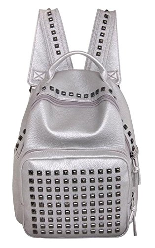 Tina Women's Fashion Soft Studded Leisure Travel Backpack School Bag