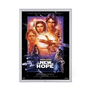 Amazon.com - Lockable Silver Movie Poster Frame 24 x 36 ...