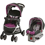Graco FastAction Fold Stroller Click Connect Travel System, Nyssa