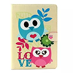 Noarks G GeBox(TM) Fashion Cover with Flip Stand Luxury Case for Apple iPad Air (Cute Two Owls)