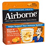 Airborne Effervescent Health Formula, Tablets, Original Zesty Orange, 12 ct.