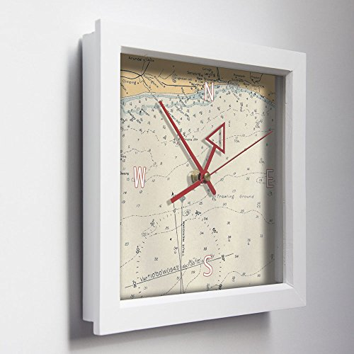 Brighton-Coast-Sussex-Nautical-Wall-Clock-Unique-Seaside-Gift-for-Him-or-Her-Coastal-Clocks-Elegant-Vintage-WWII-Sailing-Designs