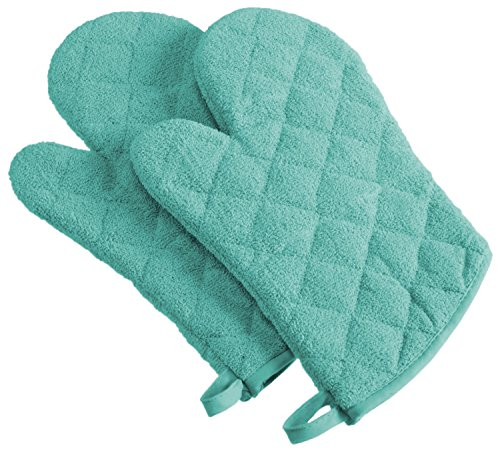 DII 100% Cotton, Machine Washable, Heat Resistant, Everyday Kitchen Basic, Terry Oven Mitt, 7 x 13