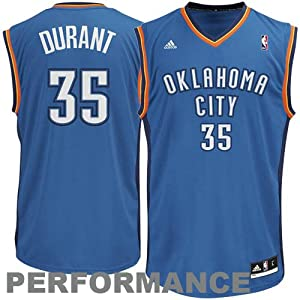 NBA Oklahoma City Thunder Kevin Durant #35 Youth Replica Road Jersey, Blue, Medium
