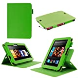 """rooCASE Amazon Kindle Fire HD 7 Case - ( 2012 Previous Generation) Dual View Multi Angle Tablet 7-Inch 7"""" Stand Cover - GREEN (With Auto Wake / Sleep Cover)"""