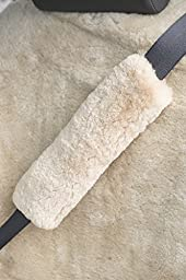 Sheepskin Seat Belt Cover, PEARL, Size 1 SIZE