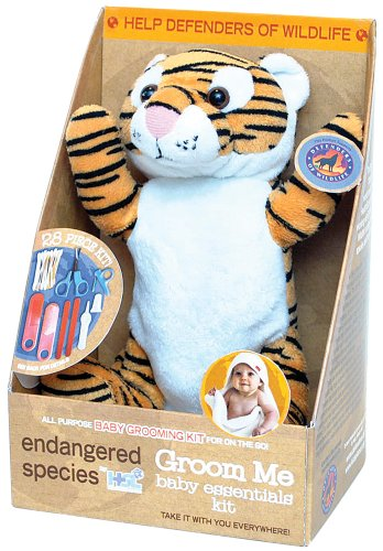 Endangered Species by Sud Smart Groom Me Baby Essentials Kit, Leopard