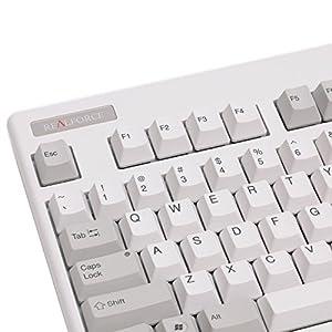 東プレ Realforce87U-55 87キー英語配列テンキーレスモデル USB LED付き 静電容量無接点方式 キー荷重ALL55タイプ DIPスイッチ有り 昇華印刷 ホワイト SE08T0