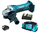 Makita 18V LXT BGA452 BGA452Z BGA452Rfe Angle Grinder, BL1830 Battery, DC18RC Charger And LXT600 Bag