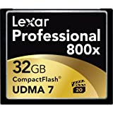 Lexar Professional 800x 32GB VPG-20 CompactFlash Card (Up to 120MB/s Read) w/Free Image Rescue 5 Software LCF32GCRBNA800