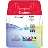 Canon Original CLI-521 Multipack (cyan, Magenta, Yellow)by Canon
