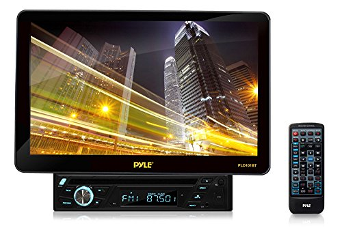Pyle Pld101Bt Bluetooth 10.1-Inch Hi-Res Touch Screen Multimedia Receiver Head-Unit, Motorized And Detachable Display