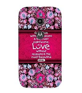 Love Quote 3D Hard Polycarbonate Designer Back Case Cover for Motorola Moto E2 :: Motorola Moto E (2nd Gen)
