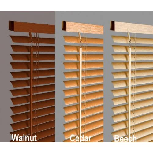 New 120cm Beech   Natural Wood Effect Pvc Venetian Blinds, AVAILABLE IN 10 SIZES AND 4 COLOURS .Buy As Many As...