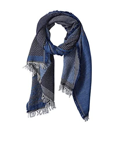 Saachi Women's Colorblock Cotton Scarf, Blue