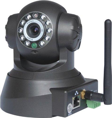 TCPower-Pan Tilt WLAN IP Kamera WiFi Zwei-Wege Audio Nacht Vision Nachtsicht IP Netzwerk Kamera ip cam Für MAC / Windows / Linux / Android und IPhone, support Alarm Ausgang, Alarm per Email, FTP, Zugriff über das Internet, Free Mobile Remote Viewing
