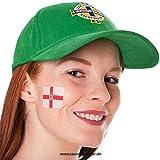 25 x Nordirland Tattoo Fahne Fan Set - EM Fanartikel 2016 - Northern Ireland Flag (25)
