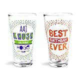 Happily Unmarried B'day Beer Glass