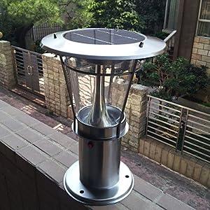 wck led solar fence post light led solar