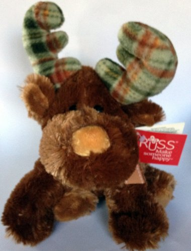 "Russ Berrie 10"" Plush Marty Moose - 1"