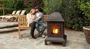 Amazon.com : Bronze Pagoda Design Fire Pit - 45 inch ...