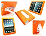 Emartbuy® New Ipad 3 & Apple Ipad 2 Orange Dual Layer Armoured Case / Cover with Potrait / Landscape View Stand (All versions Wi-Fi and Wi-Fi + 3G/4G - 16GB 32GB 64GB)