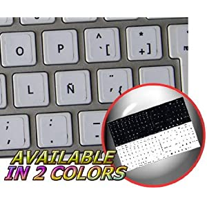 MAC ENGLISH-SWISS FRENCH KEYBOARD STICKER WHITE BACKGROUND FOR DESKTOP, LAPTOP AND NOTEBOOK 4KEYBOARD