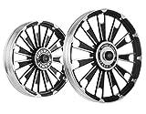 Kingway JS2B Zipp Bike Alloy Wheel Set of 2 19/19 Inch Black CNC-Royal Enfield Electra