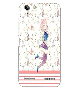 PrintDhaba Dancing Girl D-1110 Back Case Cover for LENOVO LEMON 3 (Multi-Coloured)