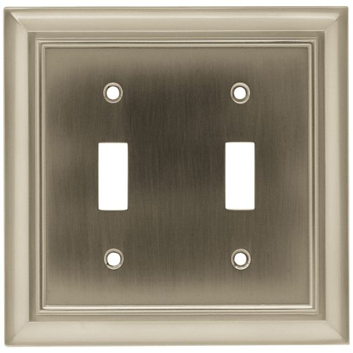 BRAINERD 64208 Architectural Double Switch Wall Plate / Switch Plate / Cover
