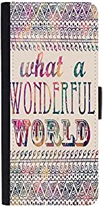 Snoogg What A Wonderful World Designer Protective Phone Flip Case Cover For Oneplus Two