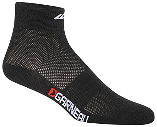 Louis Garneau 2015 Low Versis Cycling/Running Socks - 3-Pack - 1085055 (Black - S/M)