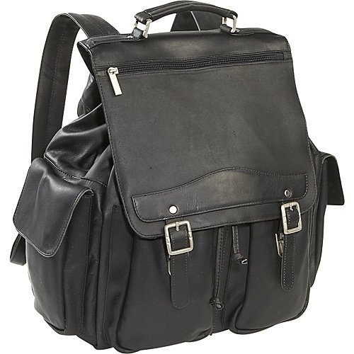 B002Y5CA7K Cape Cod Leather Mountain Premium Leather Backpack (Black)