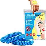 Mosquito Repellent Bracelet 6 Pack + 6 Bonus Bug Repellent Patches | Citronella Zika Protection