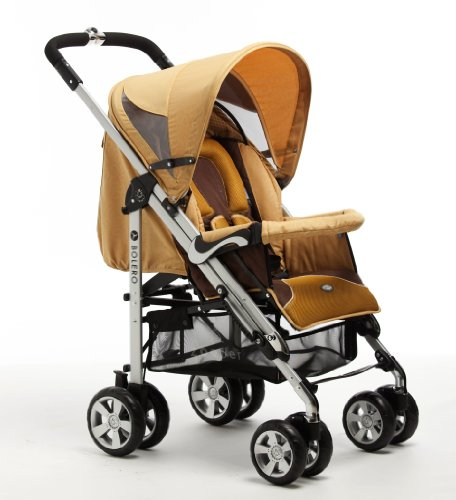 Zooper 2011 Bolero Stroller/Bassinet, Amber Yellow (Discontinued by Manufacturer)