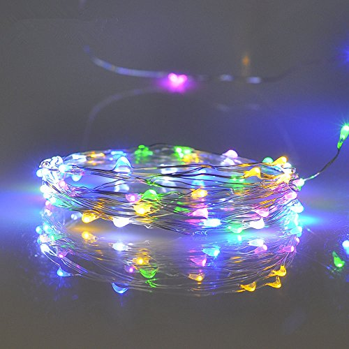 String Lights Qatar : Pansdore Christmas Lights 60 LED String Lights for Indoor Outdoor Party, Timer Function, Copper ...