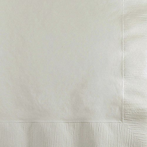 Creative Converting Value Pack Paper Beverage Napkins, White, 150-Count