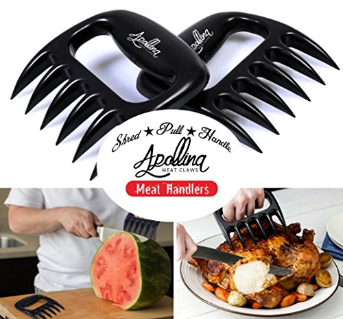 apollina meat claws set of 2 bear claws meat handler barbecue tools shredding carving. Black Bedroom Furniture Sets. Home Design Ideas