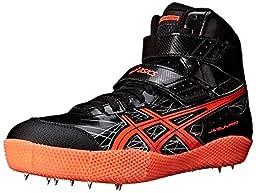 ASICS Men\'s Javelin Pro Track Shoe, Black/Flash Coral/Silver, 7 M US