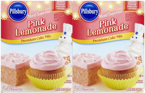 Pillsbury Pink Lemonade Cake Mix, 15.25 oz, 2 pk (Pink Cake Mix compare prices)