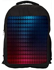 "Snoogg Blue And Red Pattern Design Casual Laptop Backpak Fits All 15 - 15.6"" Inch Laptops"