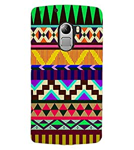 ColourCraft Tribal Pattern Design Back Case Cover for LENOVO A7010