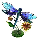 Bejeweled Display® Beautiful Dragonfly w/ Stain Glass Candle Holder & Home Decor