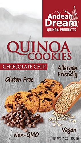 Andean Dream Chocolate Chip Quinoa Cookies, Gluten & Corn Free , 7 Ounce Boxes (Pack of 3) (Quinoa Extract compare prices)