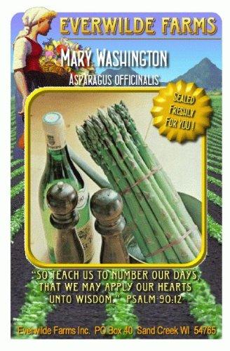 Everwilde Farms - Mary Washington Asparagus Seeds - Jumbo Seed Packet (120)
