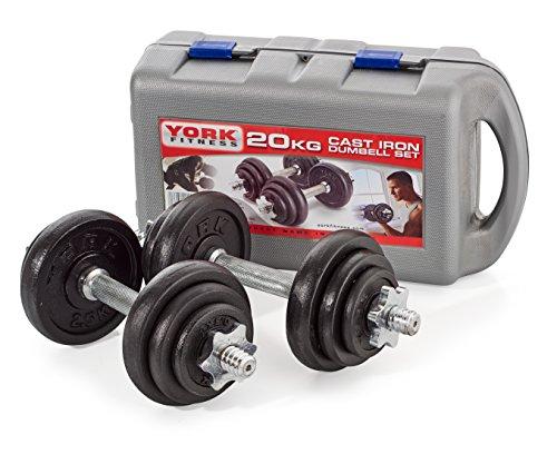 york-fitness-jeu-dhalteres-en-fonte-de-20-kg-avec-valise-noir-argent