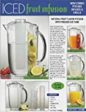 Comixpro Prodyne 4-In-1 Iced Fruit Infusion Acrylic Pitcher 96 Oz 3 Qt Natural Flavor