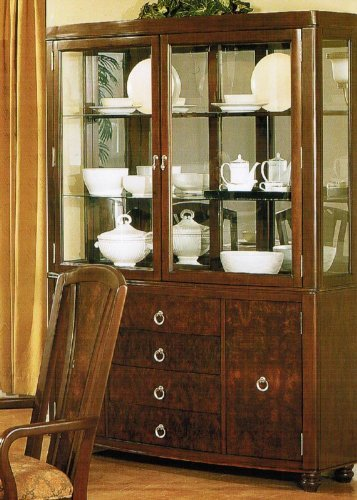 Cheap China Cabinet Buffet Hutch – Dark Walnut Finish (VF_F6169)