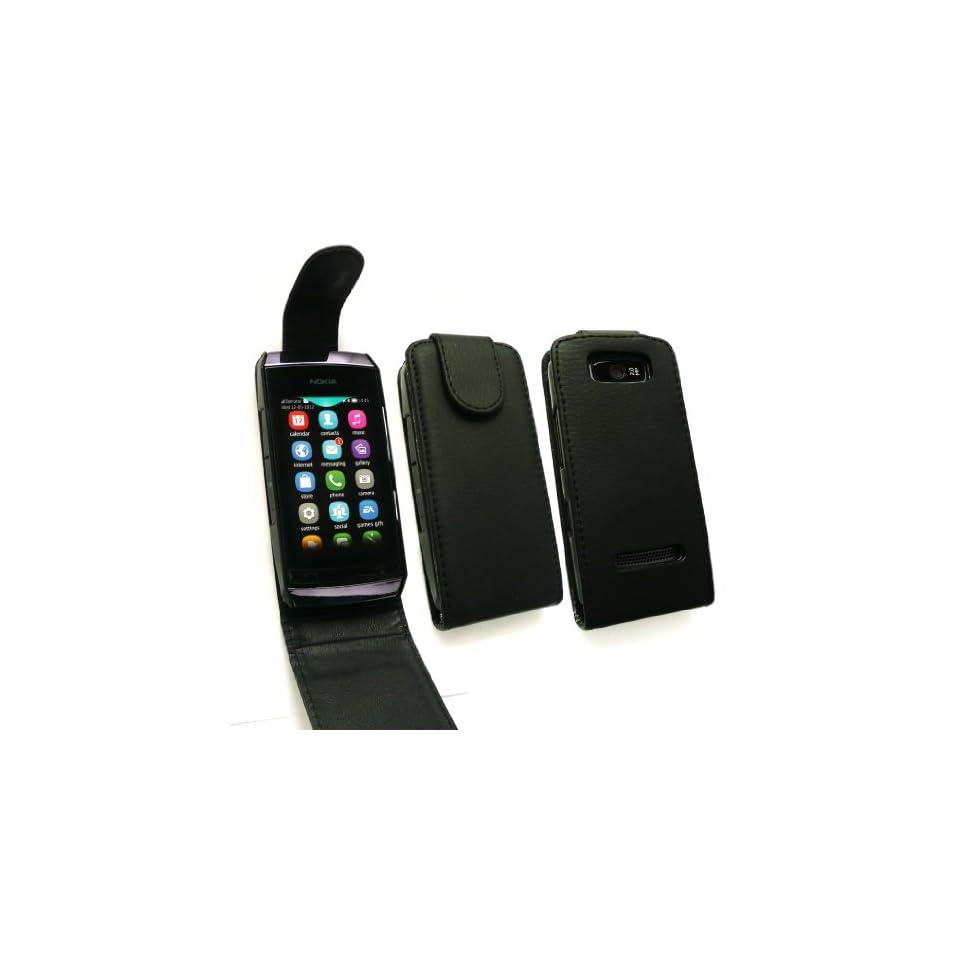Emartbuy ® Nokia Asha 305/306 Premium Pu Leder Flip Case / Cover