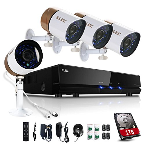 Purchase ELEC 8 Channel 960H DVR System with 4 HD Indoor/Outdoor Security Cameras & 1TB HDD